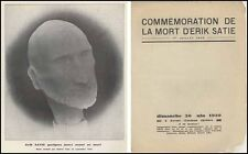 Erik SATIE (Composer): Concert Program