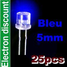461# LED 5mm Bleu cylindrique 25pcs -- 1000mcd