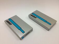 Lamy T10 Turquoise Ink Cartridges for All Fountain Pen Models (2packs=10pcs)