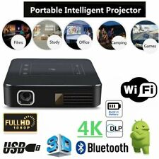 Mini Pocket 5000lm DLP 4K HD 1080p Cinema Wifi Android Home Theater Projector UK
