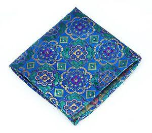 Lord R Colton Masterworks Pocket Square - Sao Paolo Azul Silk - $75 Retail New