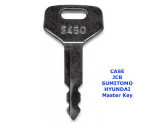 CASE  JCB  SUMITOMO LINKBELT  S450 Master Plant Excavator Digger Dumper Key