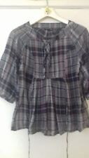 GREY CHECK BLOUSE  FROM WAREHOUSE....SIZE 8