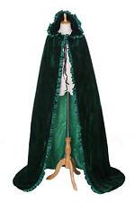 cape-02 Verde Terciopelo esterado Capa VESTIMENTA Edad Media GOTHIC Vampiro Larp