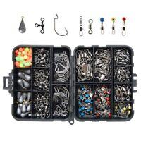 Ilure Fishing Accessories Tackle Box Kit with Hooks Weights Jig Heads Swivel Sli