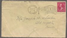1898 Norwich Ct Cover to Mystic Flag Cancel F L Arnold sender