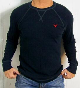 mens - AMERICAN EAGLE shirt - M - AE LEGEND - VINTAGE FIT - THERMAL - Navy Blue
