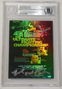 Mark Coleman Dan Severn Signed 2009 Topps UFC 12 Fight Poster Card BAS COA Auto