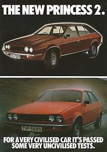 Austin Morris Princess 2 Brochure 1978 1700L HL 2000HL 2200HLS Excellent Cond