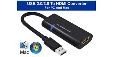 External USB3.0 USB2 To HDMI Video Audio Converter For PC Mac Systems