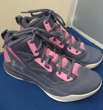 Under Armour Kids Womens UA GPS Jet Mid Grey/Pink  Size 5Y