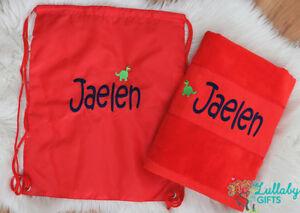 Personalised Towel ,Bag Set, Beach velour/terry towel,Swim bag,Personalised Gift