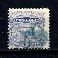 United States stamp #114, used, pale ultramarine, Blue cancel,  SCV $21.00