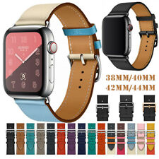 For Apple Watch 38mm 42mm 40mm 44mm Leather Single Tour Band Replacement Strap