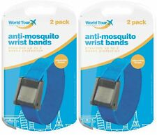 4 x 100% DEET Anti Mosquito Repellent Insect Adjustable Wrist Bands 100+ Hours