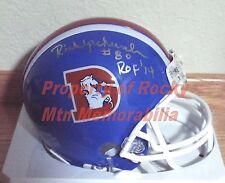 Denver Broncos RICK UPCHURCH Signed D-Logo Mini Helmet w/ Ring-Of-Fame Inscrip.