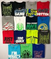 Boy's Little Youth Nike Cotton T-Shirt Sizes 4-7