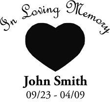 In Loving Memory - Heart - Car Decal Window Sticker