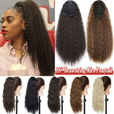 140G Thick Afro Kinky Curly Ponytail Puff Drawstring Clip in Hair Extensions UK