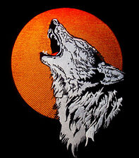 large biker patch - Wolf Red Moon