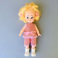 "Vintage 60s Tammy Clone Doll 10"" Hong Kong Plastic Jointed Rooted Hair Blonde"