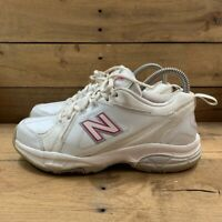 New Balance Womens 608 V3 Training Shoes White Low Top Lace Up WX608V3P 7 B