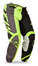 Fly Racing Kinetic MX BMX motocross pants 32 black gray & hi-vis green 368-53032