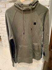 DKNY Sport Mens Hooded Sweatshirt Dark Green Size Med