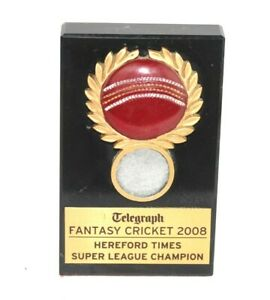 Telegraph Fantasy Cricket 2008 trophy Hereford Times Super League Champion S4