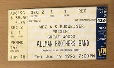 1998 The Allman Brothers Band Great Woods Boston Concert Ticket Stub Gregg Duane