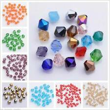 Bulk 200pcs 3x2mm Bicone Faceted Crystal Glass Crafts Loose Spacer Beads lot