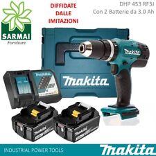 MAKITA DHP453 TRAPANO AVVITATORE CON PERCUSSIONE 2 BATTERIE 18V 3Ah