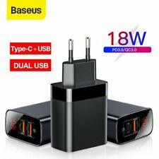 Baseus 18W USB Type C Charger PD QC3.0 Fast Charging Power Adapter EU UK Plug