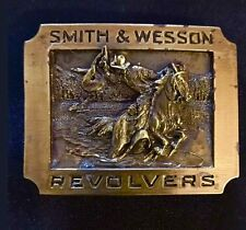 "Bergamot BELT BUCKLE ""S & W Revolvers""   1990  F-300"
