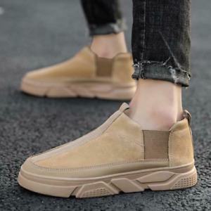 Men's  High Top Boards Canvas Sneakers Shoes Slip on Breathable Sports Walking