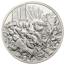 BRD Silbermedaille o.J. Rembrandt Austreibung der Wechsler PP- Gewicht:66,2g/925