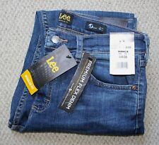 NWT Lee Premium Flex MENS JEANS • Regular Fit Tapered Leg Medium Wash • BECKETT