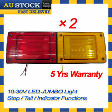 2 X LED Jumbo Tail Light Trailer Caravan Truck UTE Camper Stop Tail Indicator #8