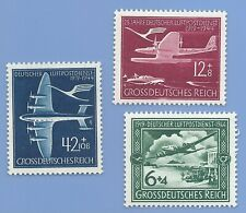 Nazi Germany Third Reich 1944 Swastika Luftpostdienst Plane Stamp Set  WW2 ERA