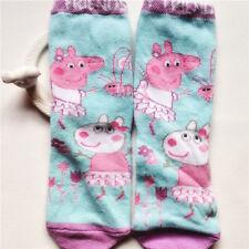 Green Pink Peppa Pig Cute Girl Kid Soft cotton Socks 2-5T Good for Summer Autumn
