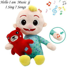 JJ CoComelon  MusicToy Musical Bedtime Soft Plush Doll-JJ & Bear with Music