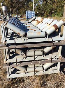 "Lot of 48"" conveyor rollers FMC 3000 conveyor idlers 35 degree sand gravel coal"