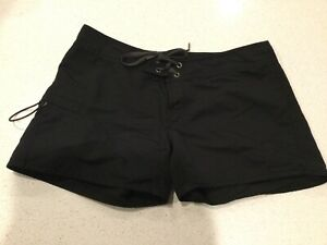 Patagonia Womens Black Board Shorts Water Outdoors Nylon Size 6 Style 78552