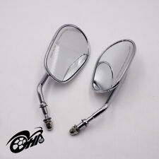 Motorcycle Side Rear View Mirrors Universal Chrome For Harley-Davidson