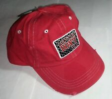 CAGE FIGHTER RED REAL MEN DON'T TAP MMA ADJ SNAP BASEBALL CAP HAT NEW WITH TAG