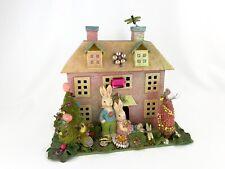 Easter Spring Large Handmade Putz Cardboard House Village Decoration Jeweled 🌺