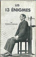 RARE EO 1932 GEORGES SIMENON + PHOTOS J. CONSTANTINESCO : LES 13 ÉNIGMES