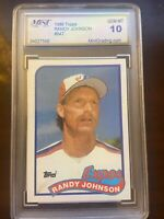 1989 Topps Randy Johnson ROOKIE the RARE #647 GEM MINT 10 PSA Mint Mariners