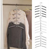 1/2x cintres multicouche non-Slip Tops, robe, chemise vêtement rack de rangement