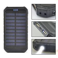 50000mAh Compass Solar Power Bank 2USB LED Externe Ladegerät Zusatzakku Batterie